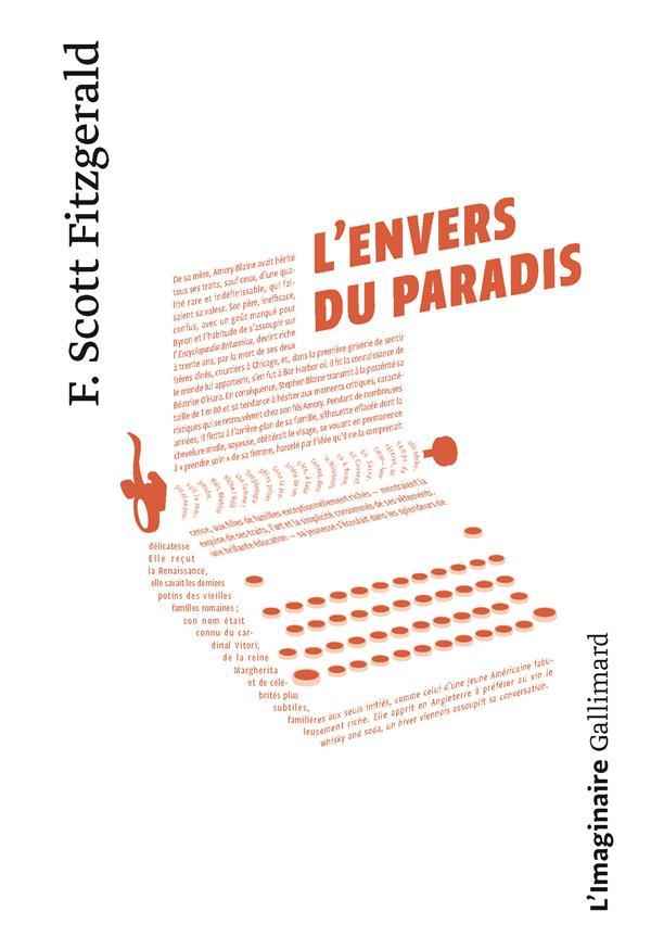 L'ENVERS DU PARADIS FITZGERALD/GRENIER GALLIMARD