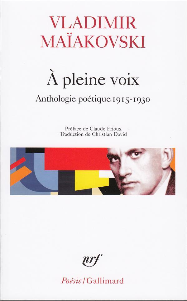 A PLEINE VOIX(ANTHOLOGIE POETI