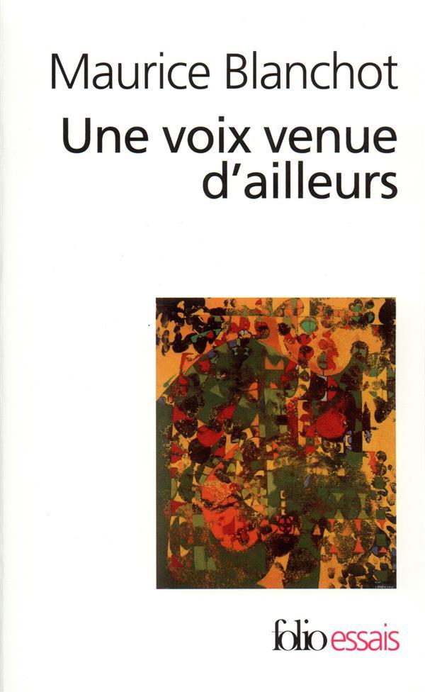 UNE VOIX VENUE D'AILLEURS