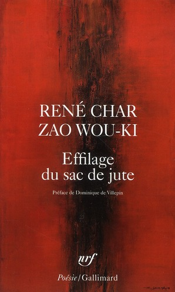 EFFILAGE DU SAC DE JUTE ZAO WOU-KI/CHAR GALLIMARD