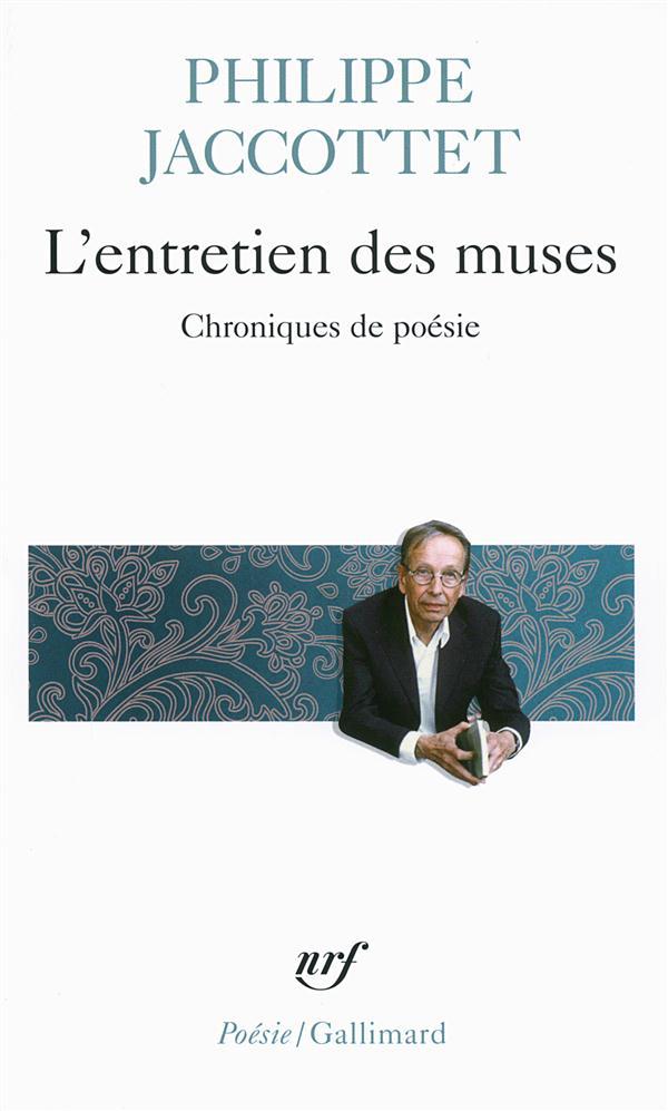 L'ENTRETIEN DES MUSES - CHRONIQUES DE POESIE