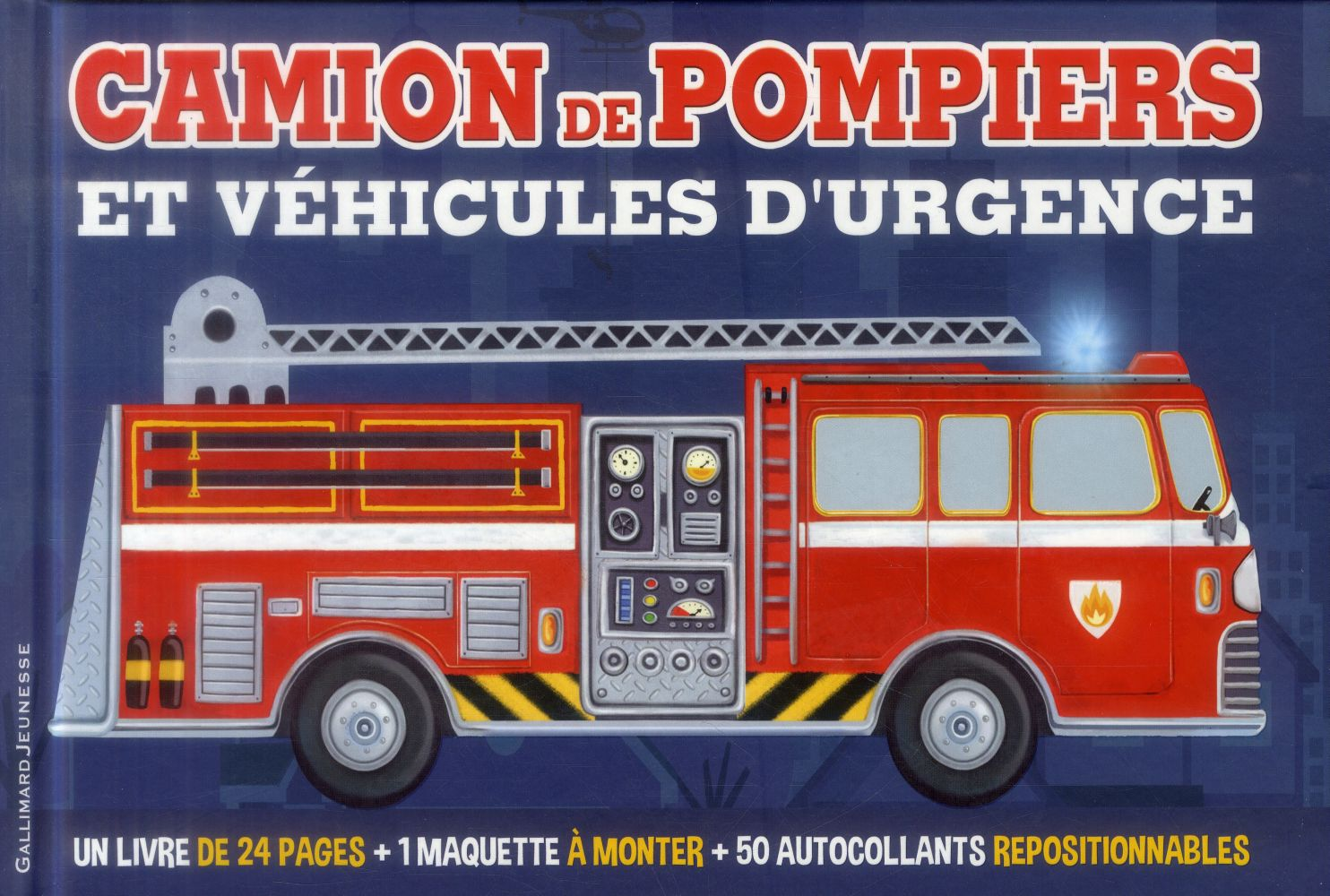 CAMION DE POMPIERS ET VEHICULES D'URGENCE OXLADE CHRIS Gallimard-Jeunesse