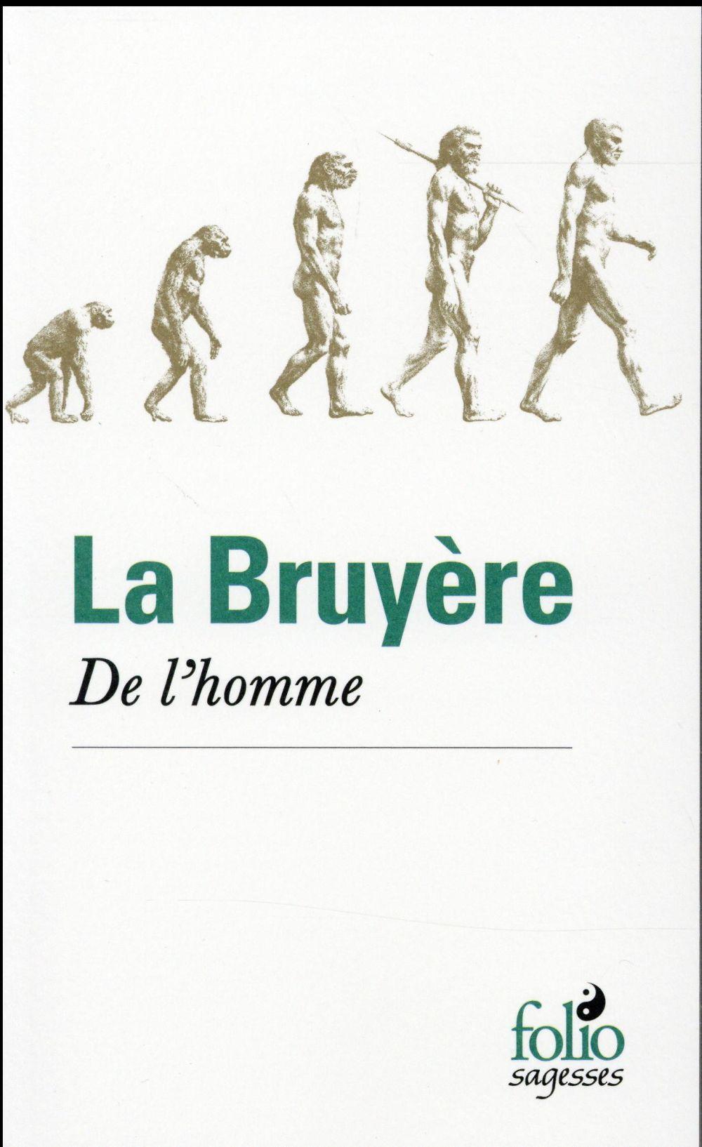 DE L'HOMME LA BRUYERE JEAN DE Gallimard