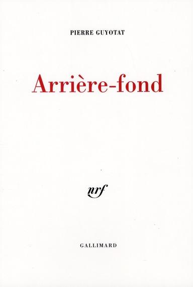 ARRIERE-FOND