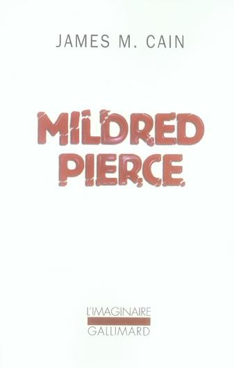 CAIN JAMES M. - MILDRED PIERCE