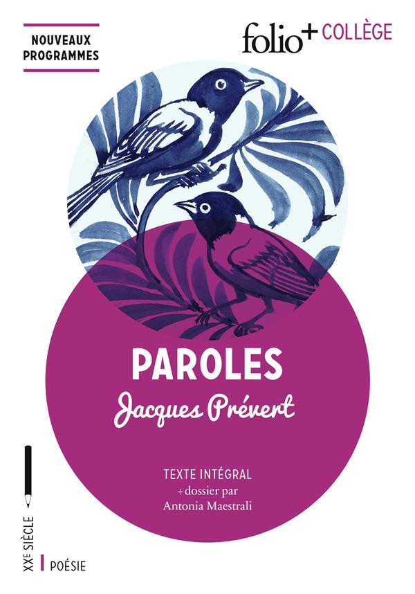 PAROLES Prévert Jacques Gallimard