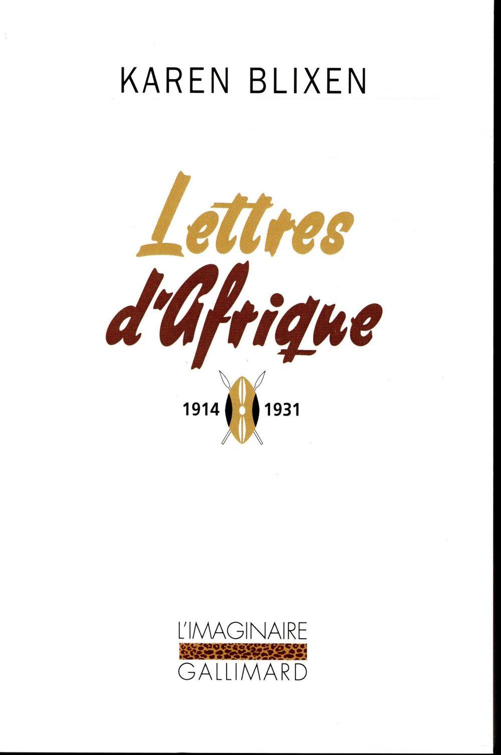LETTRES D-AFRIQUE