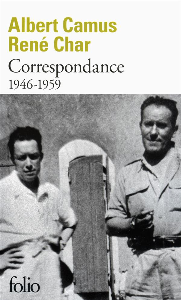 CORRESPONDANCE 1946-1959 CHAR/CAMUS Gallimard