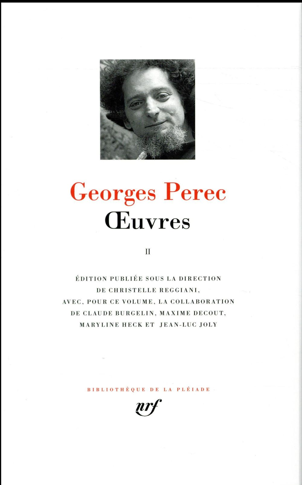 OEUVRES (TOME 2) PEREC GEORGES GALLIMARD