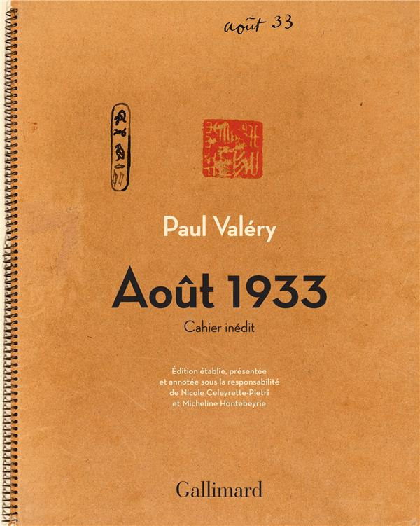 AOUT 1933 - CAHIER INEDIT