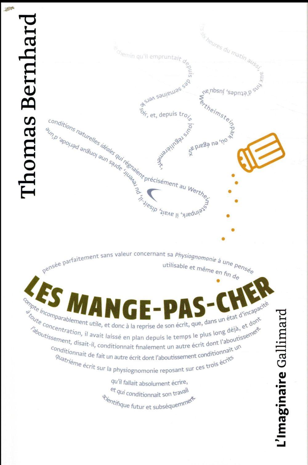 LES MANGE-PAS-CHER  GALLIMARD