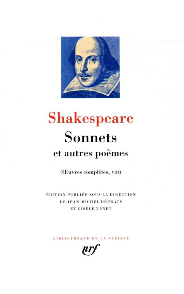 OEUVRES COMPLETES T.8  -  SONNETS ET AUTRES POEMES SHAKESPEARE, WILLIAM GALLIMARD