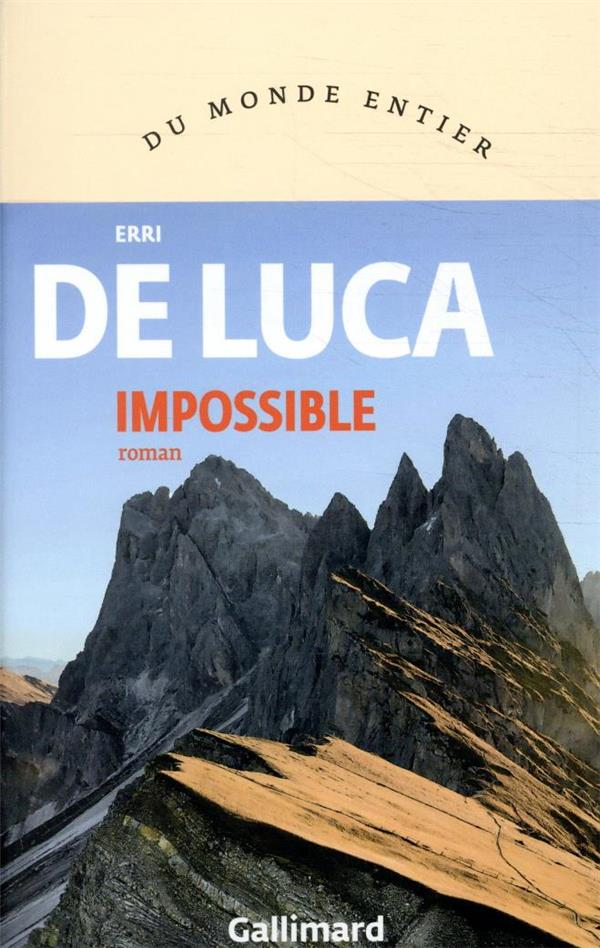 IMPOSSIBLE DE LUCA ERRI GALLIMARD