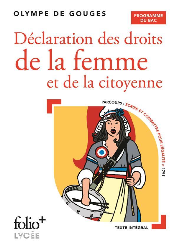DECLARATION DES DROITS DE LA FEMME ET DE LA CITOYENNE  -  BAC 2022 GOUGES OLYMPE DE GALLIMARD