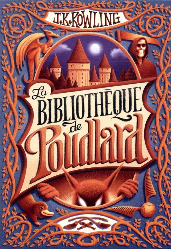 COFFRET LA BIBLIOTHEQUE DE POUDLARD  -  LE QUIDDITCH A TRAVERS LES AGES, LES ANIMAUX FANTASTIQUES, LES CONTES DE BEEDLE LE BARDE ROWLING, J. K. GALLIMARD