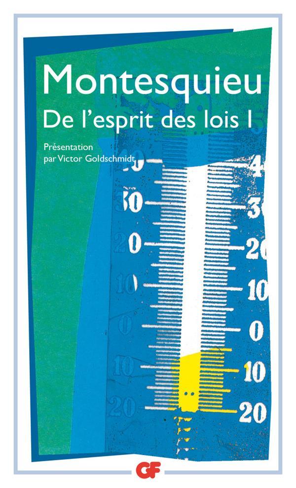 DE L'ESPRIT DES LOIS T.1