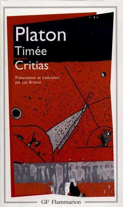TIMEE - CRITIAS PLATON FLAMMARION