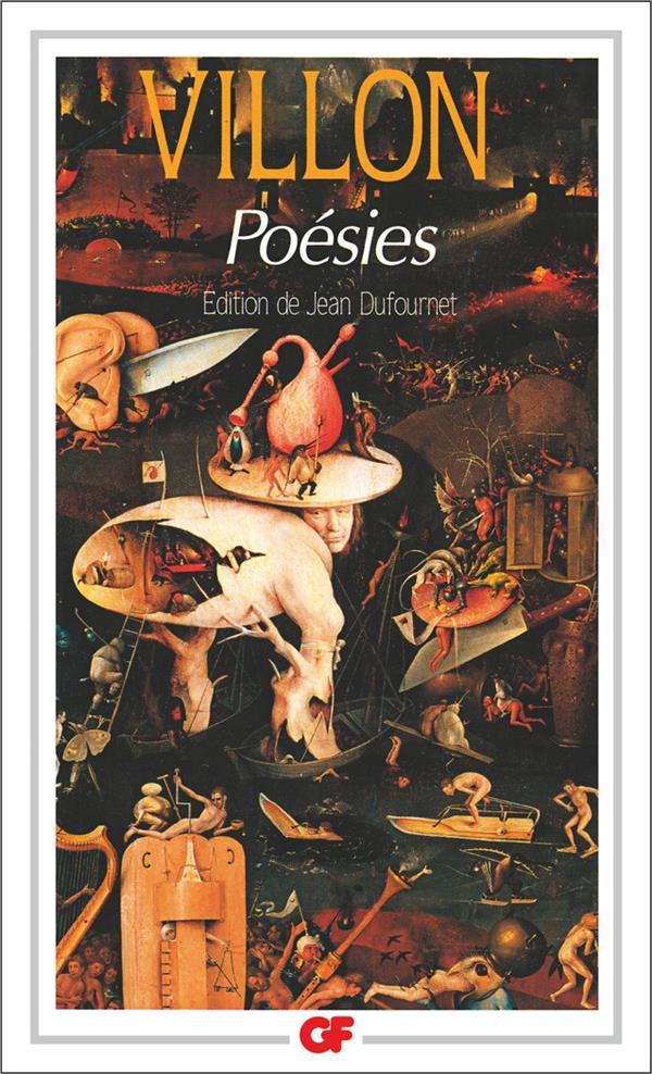 POESIES VILLON/DUFOURNET FLAMMARION
