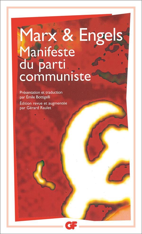 MANIFESTE DU PARTI COMMUNISTE ENGELS/MARX FLAMMARION