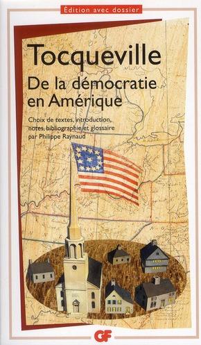 DE LA DEMOCRATIE EN AMERIQUE TOCQUEVILLE (DE) ALE FLAMMARION