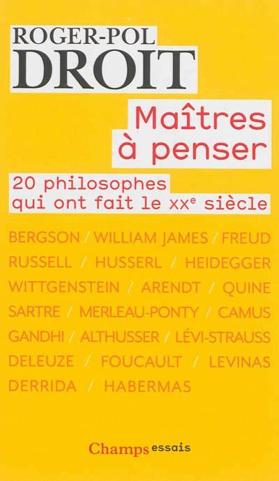 MA×TRES A PENSER : 20 PHILOSOP