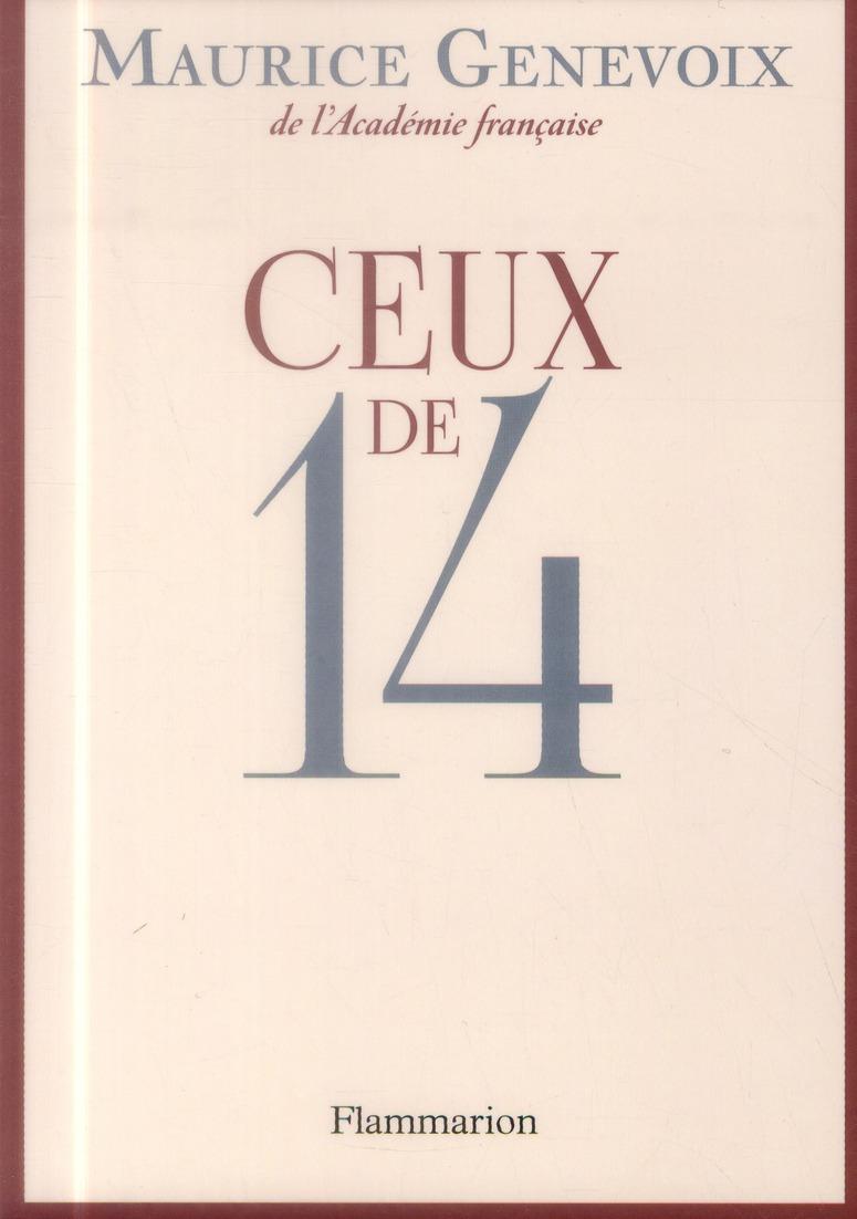 CEUX DE 14 Genevoix Maurice Flammarion