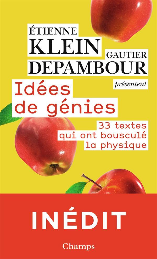IDEES DE GENIES  -  33 TEXTES QUI ONT BOUSCULE LA PHYSIQUE KLEIN/DEPAMBOUR FLAMMARION