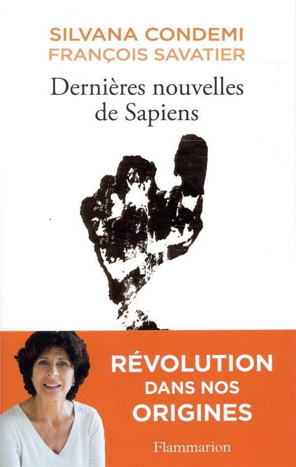 DERNIERES NOUVELLES DE SAPIENS SAVATIER/CONDEMI FLAMMARION