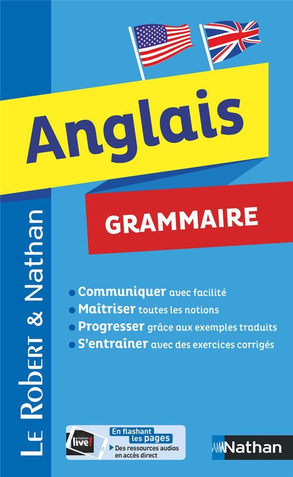 DICTIONNAIRE LE ROBERT et NATHAN  -  ANGLAIS  -  GRAMMAIRE (EDITION 2018)
