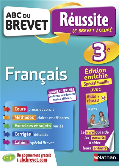 Abc Du Brevet Reussite Famille Francais 3eme Librairie