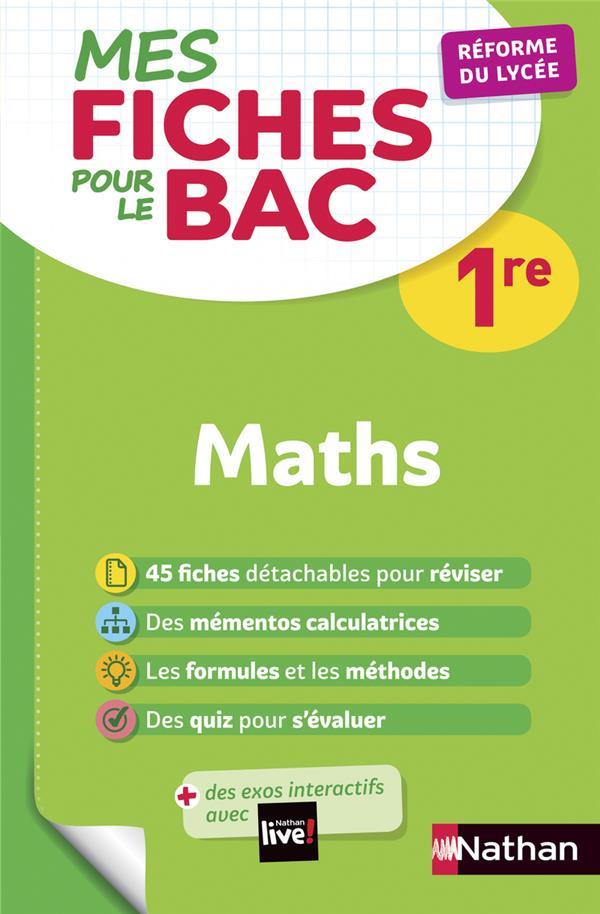 MES FICHES ABC POUR LE BAC MATHS 1RE DESROUSSEAUX P-A. CLE INTERNAT