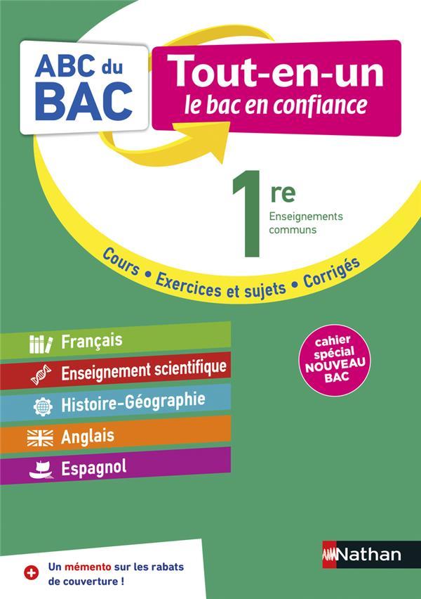 ABC DU BAC  -  TOUT-EN-UN  -  TOUTES LES MATIERES  -  1RE (EDITION 2020) COLLECTIF CLE INTERNAT