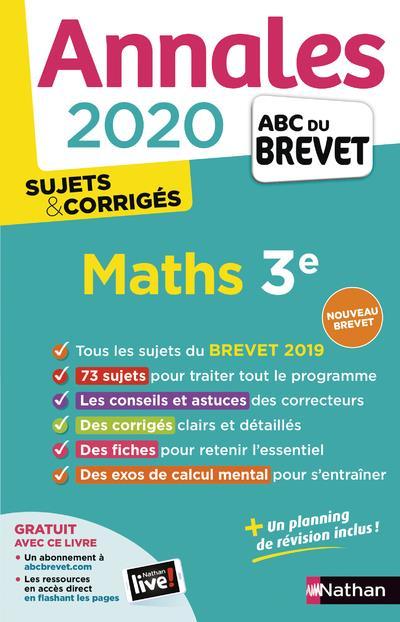 MORA, GILLES  - ANNALES ABC BREVET T.19  -  MATHEMATIQUES  -  3E (EDITION 2020)