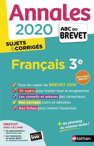 COLLECTIF - ANNALES ABC BREVET T.20  -  FRANCAIS  -  3E (EDITION 2020)
