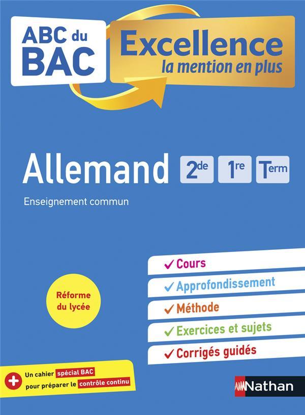 ABC DU BAC EXCELLENCE T.53  -  ALLEMAND  -  2DE, 1RE, TERMINALE (EDITION 2021)