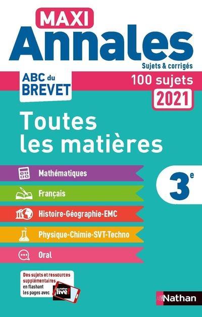MAXI ANNALES ABC DU BREVET T.8  -  TOUTES LES MATIERES  -  3E (EDITION 2020)