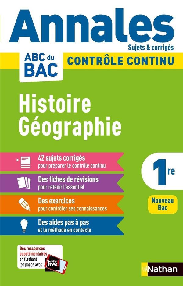 ANNALES ABC BAC  -  SUJETS et CORRIGES  -  HISTOIRE-GEOGRAPHIE : 1RE (EDITION 2020) COLLECTIF CLE INTERNAT