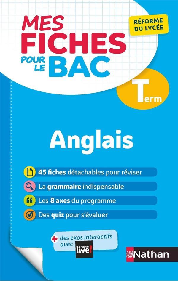 MES FICHES ABC DU BAC T.18  -  ANGLAIS  -  TERMINALE (EDITION 2020)