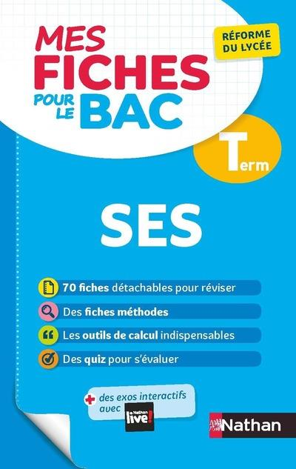 MES FICHES ABC DU BAC T.13  -  SCIENCES ECONOMIQUES ET SOCIALES  -  TERMINALE (EDITION 2020) COLLECTIF CLE INTERNAT