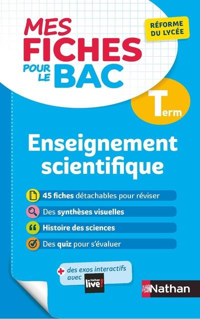 MES FICHES ABC DU BAC T.10  -  ENSEIGNEMENT SCIENTIFIQUE  -  TERMINALE (EDITION 2020) COLLECTIF CLE INTERNAT