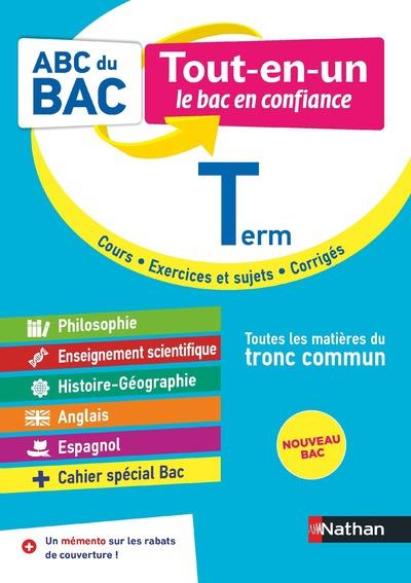 ABC DU BAC TOUT-EN-UN  -  TOUTES LES MATIERES  -  TERMINALE  -  TRONC COMMUN (EDITION 2020) COLLECTIF CLE INTERNAT