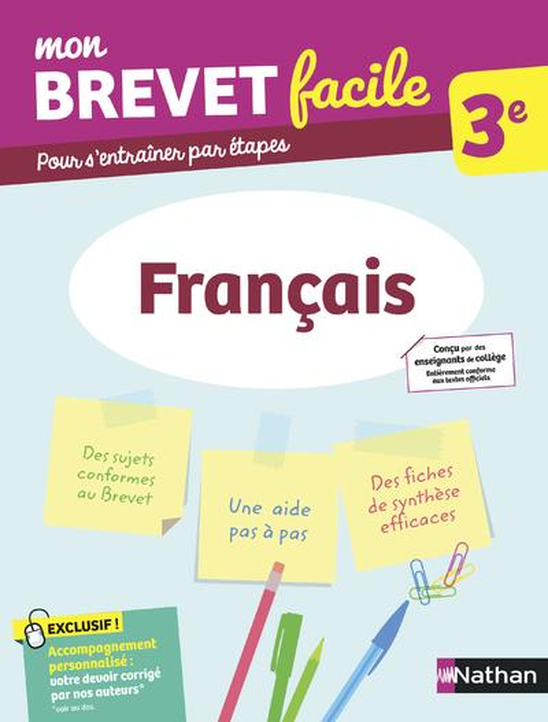 MON BREVET FACILE  -  FRANCAIS  -  3E (EDITION 2021) COLLECTIF CLE INTERNAT
