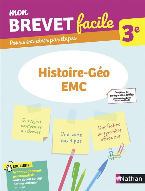 MON BREVET FACILE  -  HISTOIRE-GEOGRAPHIE, EMC  -  3E (EDITION 2021) COLLECTIF CLE INTERNAT