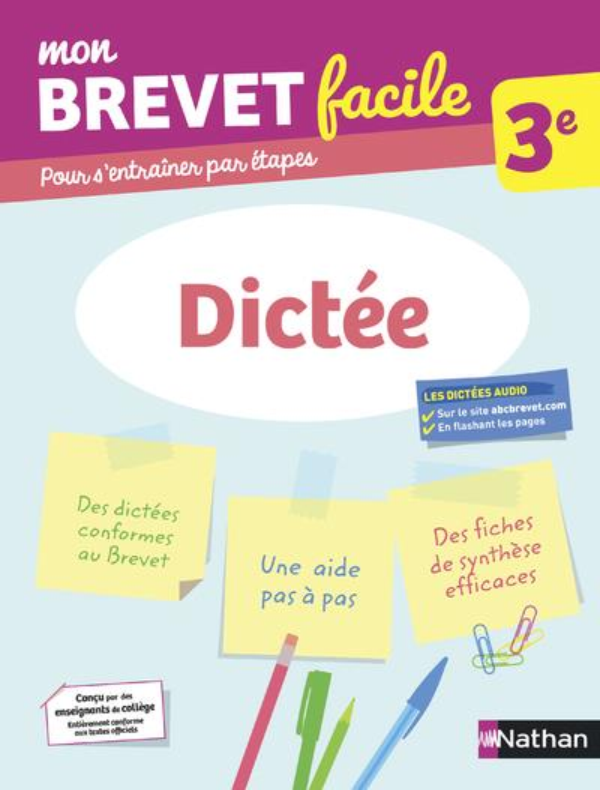 MON BREVET FACILE  -  DICTEE  -  3E (EDITION 2021) COLLECTIF CLE INTERNAT