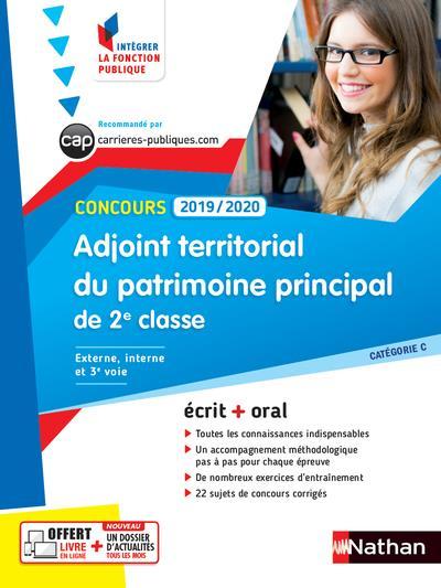 ADJOINT TERRITORIAL DU PATRIMOINE PRINCIPAL DE 2E CLASSE  -  CONCOURS (EDITION 20192020)