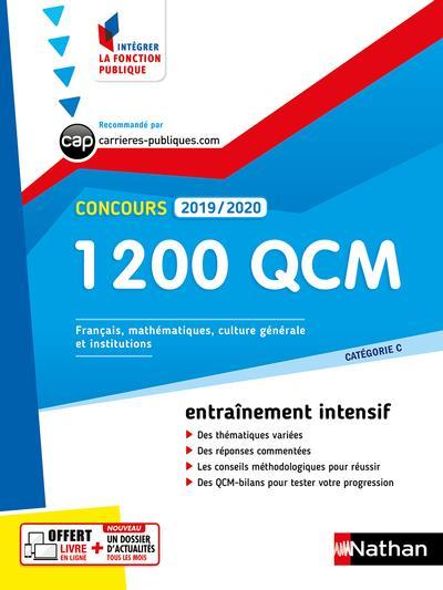 CONCOURS  -  1200 QCM  -  CATEGORIE C (EDITION 20192020) BARNET/BERTHET CLE INTERNAT