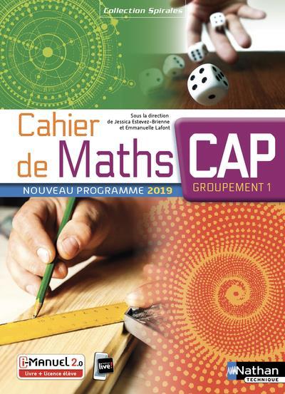 Cahier De Maths Cap Groupement 1 (spirales) Livre + Licence Eleve 2019