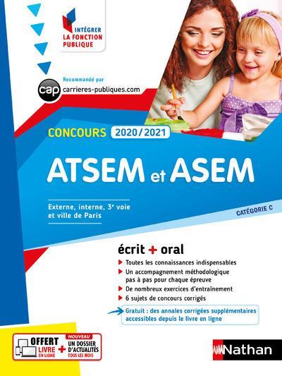 CONCOURS ATSEM ET ASEM 2020-2021 - ECRIT + ORAL - N16 - CATEGORIE C - (IFP) 2020