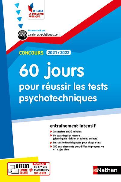 60 JOURS POUR REUSSIR LES TESTS PSYCHOTECHNIQUES (EDITION 20212022) COLLECTIF CLE INTERNAT