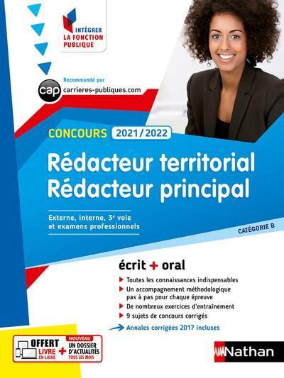 CONCOURS REDACTEUR TERRITORIAL ET REDACTEUR PRINCIPAL  -  CATEGORIE B (EDITION 20212022) COLLECTIF CLE INTERNAT